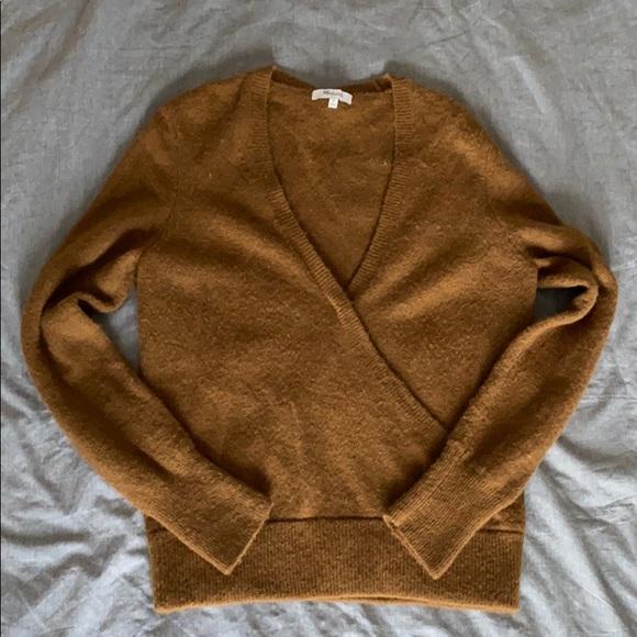 Madewell Wool Mock wrap sweater size medium